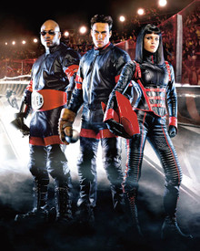 L.L. Cool J. & Rebecca Romijn-Stamos in Rollerball (2002) Poster and Photo