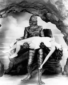 Julie Adams & Ricou Browning in Creature From the Black Lagoon Poster and Photo
