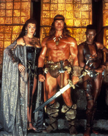 Arnold Schwarzenegger & Sarah Douglas in Conan, the Destroyer Poster and Photo