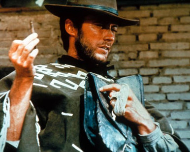 Clint Eastwood in A Fistful of Dollars a.k.a. Per un pugno di dollari Poster and Photo