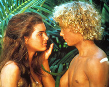 Brooke Shields & Christopher Atkins in The Blue Lagoon (1980) Poster and Photo