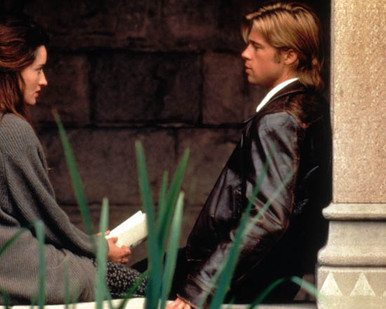Brad Pitt & Margaret Colin in The Devil's Own aka The Witches Poster and Photo