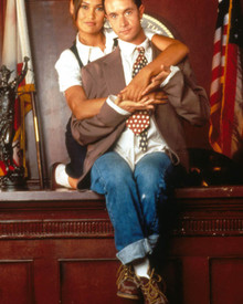 Pauly Shore & Tia Carrere in Jury Duty Poster and Photo