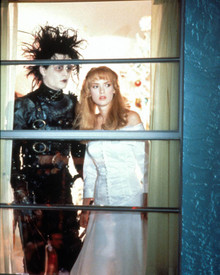 Johnny Depp & Winona Ryder in Edward Scissorhands Poster and Photo