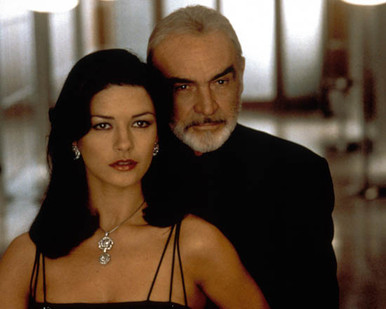 Sean Connery & Catherine Zeta Jones in Entrapment Poster and Photo