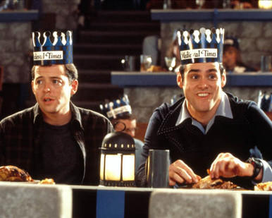 Jim Carrey & Matthew Modine in The Cable Guy Poster and Photo