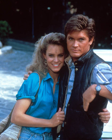 Catherine Mary Stewart & Andrew Stevens in Hollywood Wives Poster and Photo