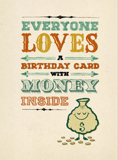 B-014 - Everyone Loves a Birthday Card with Money Inside.