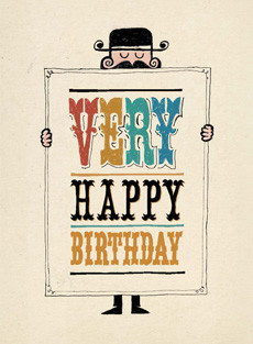 B 007 Very Happy Birthday I Care More Bald Guy Greetings