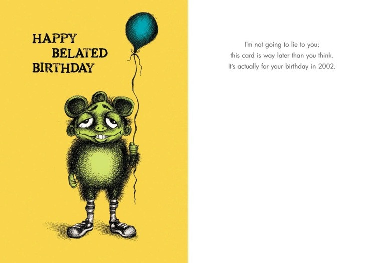 Funny birthday card nude