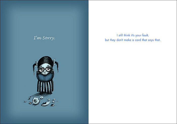 graphic relating to Printable Sorry Cards called #030 Im sorry - I even now believe that its your fault.