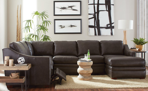 The Leather Reclining Sectional available at Orange Park Furniture ...