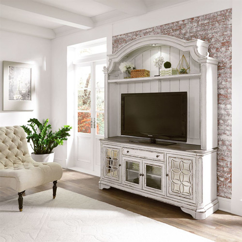 The Magnolia Manor Tv Console With Hutch Available At Orange Park