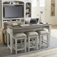 Heartland Console Bar and 3 Stools