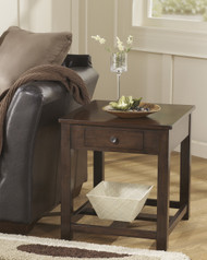 Marion Rectangular End Table: Dark brown