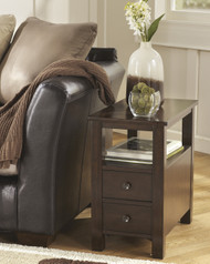 Marion Chair Side End Table: Dark Brown