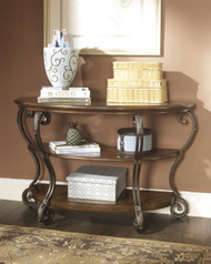 Nestor Sofa Table: Medium Brown