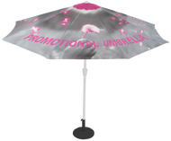 UMBRELLA WITH CUSTOM PRINTED GRAPHIC CANOPY AND BASE
