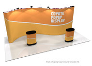 Coyote 20' Serpentine Full Graphic Mural Kit (shown with optional case-to-counter wrap)