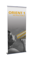 "Orient Retractable Banner Stand 35.5""wide"
