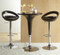 Black Swizzle Bar Stool with Black Bombe Bar Table