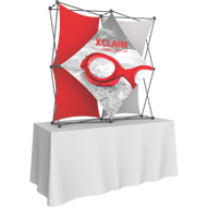XCLAIM 5FT TABLETOP FABRIC POPUP DISPLAY KIT 02 - 2 x 2