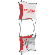 XCLAIM 2.5FT FABRIC POPUP DISPLAY KIT 03 - 1 x 3