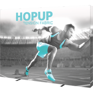 HOPUP 10FT STRAIGHT FULL HEIGHT TENSION FABRIC DISPLAY WITH ENDCAPS