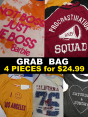 4pc GRAB BAG Macys GRAPHIC TEES #15039H ()