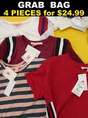 4pc GRAB BAG Macys TEES - NO PLAIN! #15040H (E-1-2)