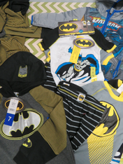25+pc Kids BATMAN Sizes 5 6 7 #15081K (q-3-1)