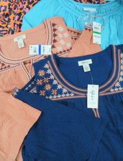 24pc $1440 in Charter Club STYLE CO Tops #15155p (p-5-5)