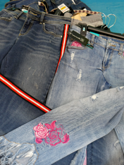 20pc Designer Jeans SILVER + INC & MORE #15171Q (p-4-1)