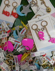 8pc GRAB BAG Designer Key Chains #15200R (n-1-5)