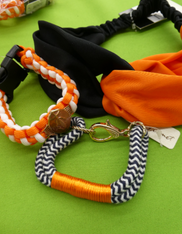28pc Grab Bag Orange Black FOOTBALL Jewelry #15286w (j-1-3)