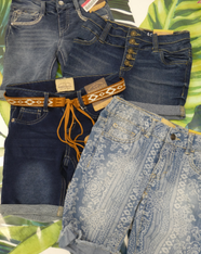 4pc Grab Bag GIRLS Roebuck JEAN SHORTS #15457C (m-3-4)
