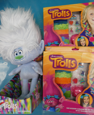 3pc TROLLS Jewelry Making Kits & Plush Doll #15639M (m-3-7)