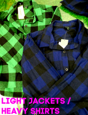 15pc $2.99 Lightweight FLANNEL Jackets / Heavy Shirts #15791w (h-4-3)