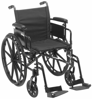 Cruiser X4 shown with desk length arms & removable footrests