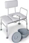 Lumex Padded Transfer Bath Bench Commode 7956KD