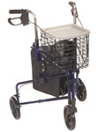 Deluxe 3 Wheel Aluminum Walker, Basket, Tray 10289 by Drive