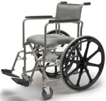 Everest & Jennings Wide Rehab Shower Commode Wheelchair