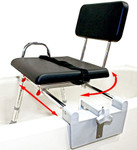 Padded Tub Mount Swivel Sliding Transfer Bench 77761 by Eagle Health