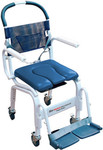 "Euro Deluxe Commode Shower Chair 4"" Casters MD-118-4TL by Mor Medical"
