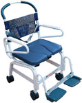 "Heavy Duty 22"" Euro Deluxe Commode Shower Chair 4"" Casters MD-122-4TL by Mor Medical"