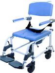 "EZee Life Rehab Shower Commode Chair w/ 5"" Casters 150 180 by Healthline"