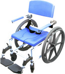 EZee Life Heavy Duty Shower Commode Wheelchair 185-24 186-24 by Healthline