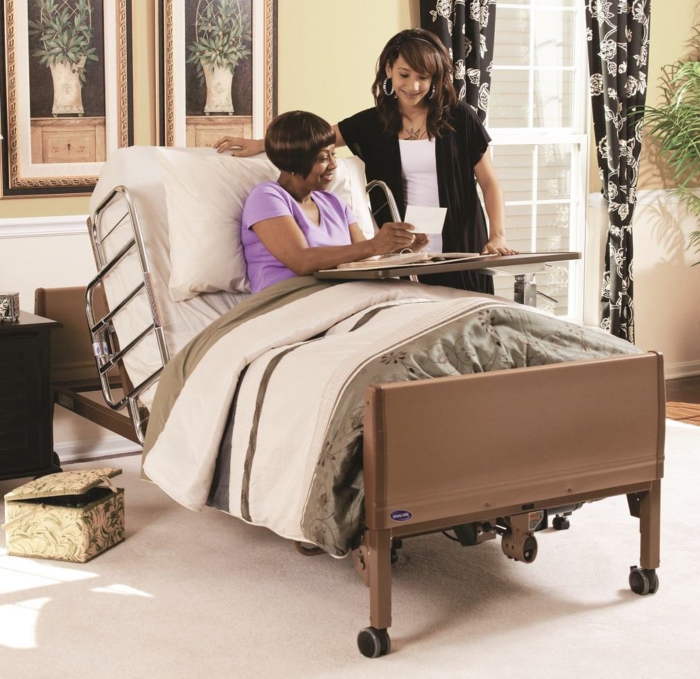 Invacare 5410IVC Full Electric Hospital Bed with Bed Rails & Mattress