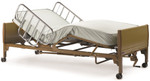 Invacare Semi Electric Hospital Bed w/ Mattress & Rails