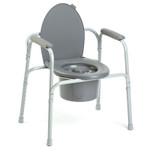 Invacare All-In-One Steel Commode Chair 9630